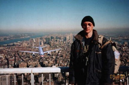 Turista sulle Twin Towers
