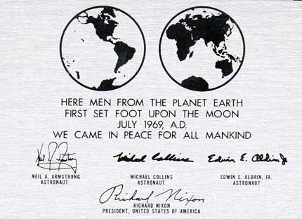 Futura Plaque on the Moon