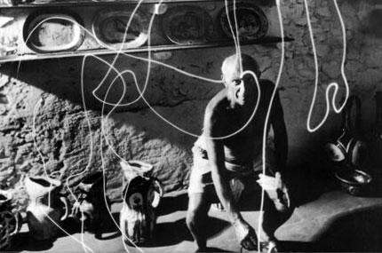 Picasso dipinge con la luce