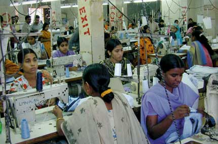 Lavoratrici donne in Dhaka