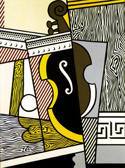 Roy Lichtenstein — Cubist Still Life With Cello (1974)