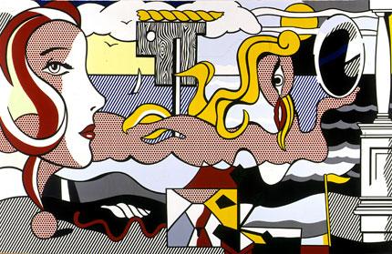 Roy Lichtenstein — Figures in Landscape (1977)